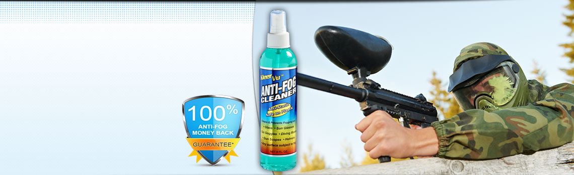 KleerVu Anti Fog Cleaner with Paintball Mask