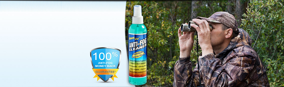 KleerVu Anti Fog Cleaner with Binoculars