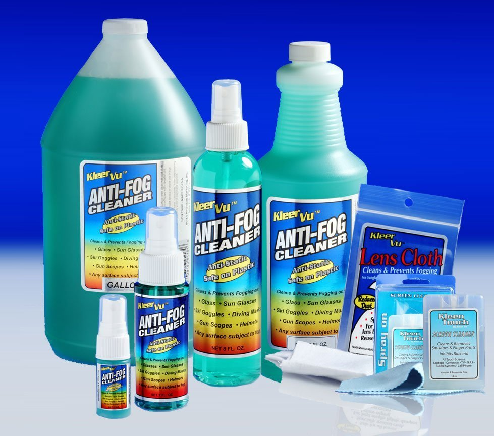 KleerVu Anti Fog Cleaner Products